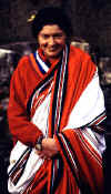 Khandro D�chen Ts�drup Yesh� wearing the robes of a ngakma